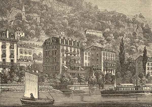 L'Hôtel Beau-Rivage à Montreux