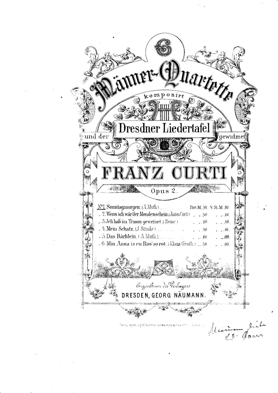 Männerchöre, Franz Curti